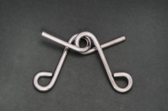 Enigma do fio (anel do enigma) Foto de Stock Royalty Free