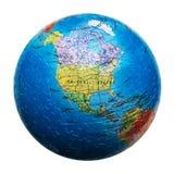 Enigma do globo isolado Mapa de America do Norte Estados Unidos, Canadá, México imagem de stock royalty free
