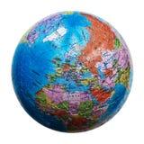 Enigma do globo isolado Mapa de Europa foto de stock