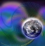 Enigma do globo no fundo abstrato Fotos de Stock Royalty Free