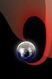 Enigma do globo no fundo abstrato Imagens de Stock Royalty Free