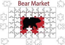 Enigma do mercado de urso ilustração do vetor