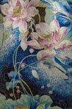 Enigma do mosaico da lagoa de Lotus fotografia de stock royalty free