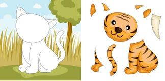 Enigma do tigre Fotos de Stock Royalty Free