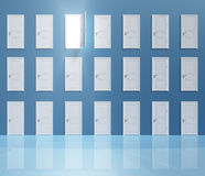 Enigma Doors Royalty Free Stock Photo
