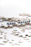 Enigma dos bens imobiliários Foto de Stock