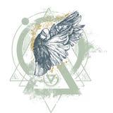 Enigma Dove illustration Stock Image