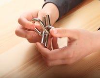 Enigma en las palmas Imagen de archivo libre de regalías