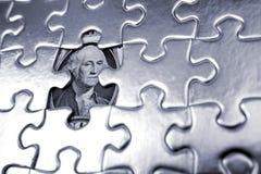 Enigma financeiro Fotografia de Stock Royalty Free