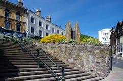 Enigma kroki w Wielkim Malvern i fontanna zdjęcie royalty free