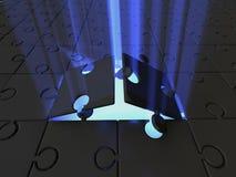 Enigma. luz Foto de Stock Royalty Free