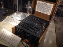 Enigma Machine. Computer Science Museum, Mountain View, California stock photo