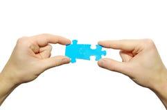 Enigma nas mãos Foto de Stock