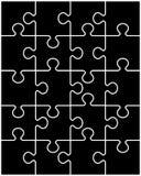 Enigma preto, peças separadas Fotografia de Stock Royalty Free