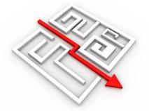 Enigma resolvido do labirinto Fotos de Stock