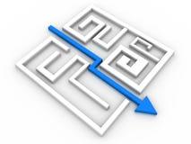 Enigma resolvido do labirinto Fotografia de Stock Royalty Free