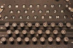 Enigma-Toetsenbord royalty-vrije stock foto's