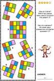 Enigma visual abstrato - como é feito? ilustração do vetor