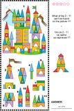 Enigma visual - brinque construções e detalhes da cidade ilustração royalty free