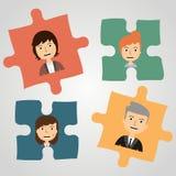 Enigmas com povos Uma comunicação do conceito Foto de Stock