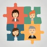 Enigmas com povos Uma comunicação do conceito Imagem de Stock