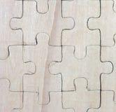 Enigmas de madeira imagem de stock