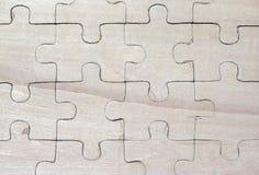 Enigmas de madeira imagens de stock