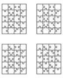 Enigmas, partes separadas Imagens de Stock