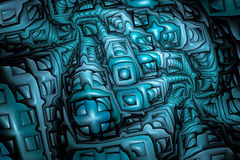 Enigmas plásticos abstratos no fundo preto Fotografia de Stock Royalty Free
