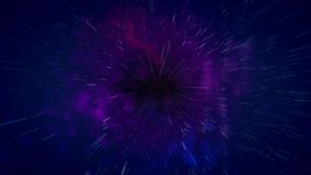 Abstract cosmos black hole illustration Stock Photography