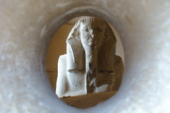 Enigmatic Egyptian statue stock image