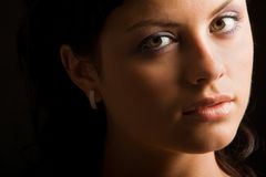 Enigmatic glance Royalty Free Stock Image
