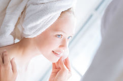 Enigmatical girl enjoying her weekends Royalty Free Stock Photography