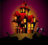 enigmatyczny dom royalty ilustracja