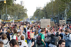 enigt för ändring för 15o barcelona globalt Arkivfoton