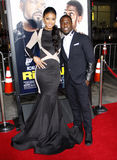 Eniko Parrish and Kevin Hart. At the Los Angeles premiere of Ride Along held at the TCL Chinese Theatre in Los Angeles on January 13, 2014 in Los Angeles stock photo