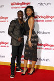 Eniko Parrish and Kevin Hart stock photo