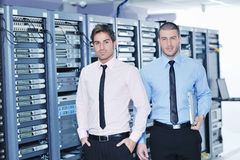 It enineers in network server room Stock Image