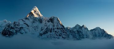 Ening view of Ama Dablam Stock Photos