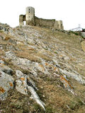 Enisala castle ruins (Romania) Royalty Free Stock Photos