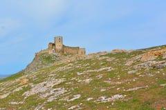 Enisala fästning, Rumänien Arkivfoto
