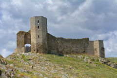 Enisala Festung, Rumänien stockbilder