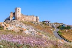 Enisala fortress, Dobrogea, Romania. stock images