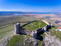 Enisala medieval fortress in Dobrogea, Romania Stock Photos