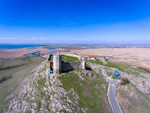 Enisala medieval fortress in Dobrogea, Romania Royalty Free Stock Images