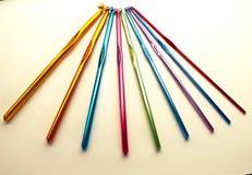 Enjambement des couleurs et du crochet de tailles Photo libre de droits