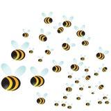 Enjambre de la abeja Imagen de archivo libre de regalías