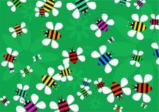 Enjambre de la abeja Fotografía de archivo libre de regalías