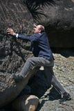 Enjeu d'affaires de falaise Image libre de droits