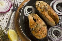 Enjeu frit des poissons Images stock